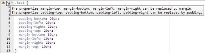 CSSLintの警告文6