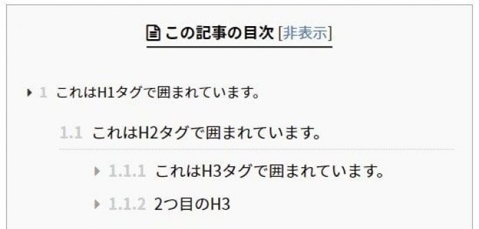 Table of Contents Plusの使い方10