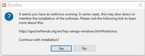 XAMPPインストール方法3