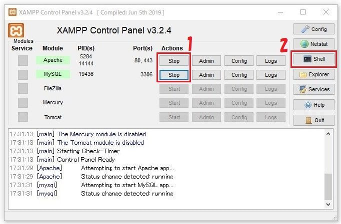 XAMPPセキュリティ対策1