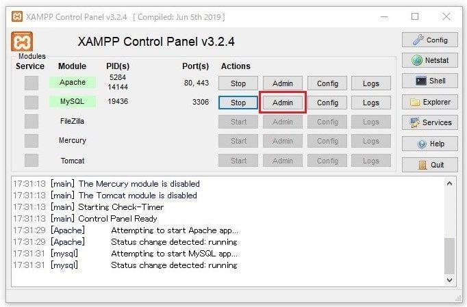 XAMPPセキュリティ対策2