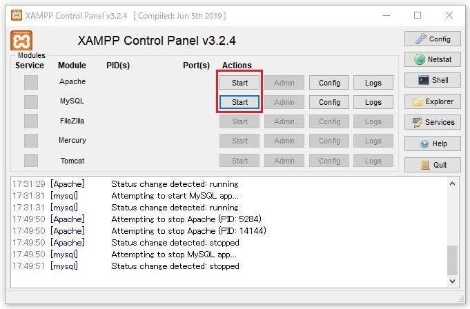 XAMPPセキュリティ対策4
