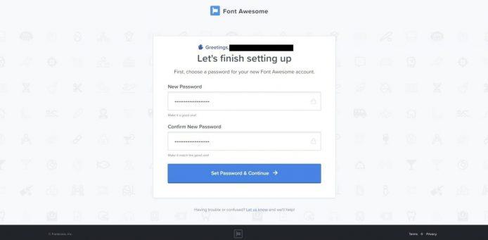FontAwesomeの登録方法4