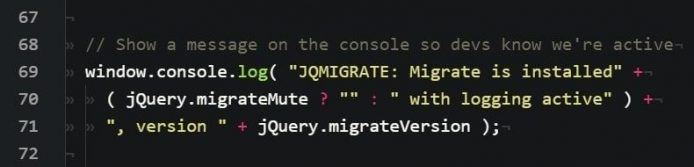 JQMIGRATE Migrate is installed_002